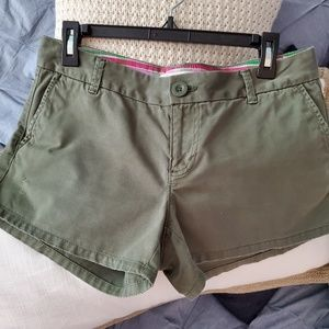 Old Navy Distressed Olive Green Shorts
